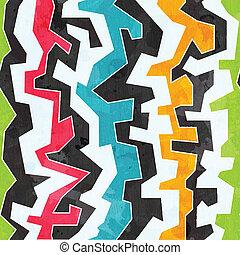 grunge, colorato, modello, effetto, seamless, graffito