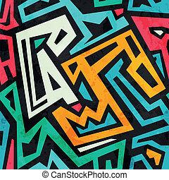 grunge, coloreado, patrón, tribal, efecto, seamless
