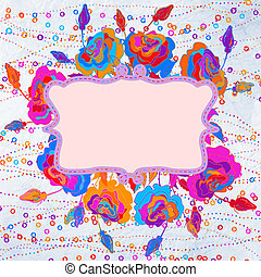 Grunge colorful flowers background. EPS 8 - Grunge colorful...