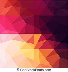 grunge, colorido, con, triángulos