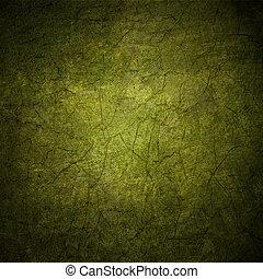 grunge, coloridos, abstratos, textura, escuro, papel, experiência verde, ou