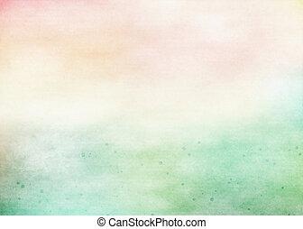 grunge, colorito, watercolor., struttura, fondo., morbido