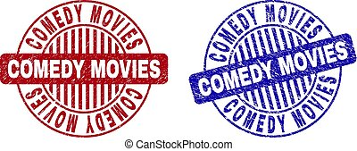 Grunge COMEDY MOVIES Scratched Round Watermarks