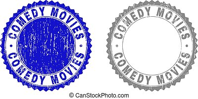 Grunge COMEDY MOVIES Scratched Stamps