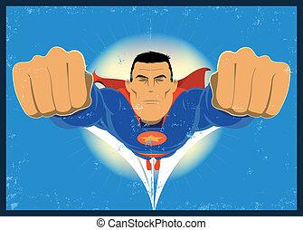 grunge, comic-like, super-hero