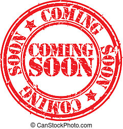Grunge coming soon rubber stamp, ve