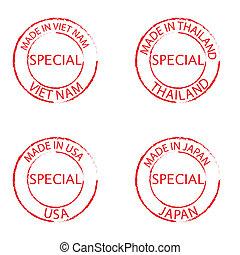 Grunge Commercial Stamps Set