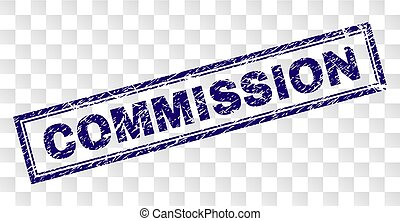 Grunge COMMISSION Rectangle Stamp - COMMISSION stamp seal...