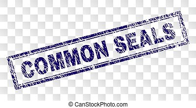 Grunge COMMON SEALS Rectangle Stamp