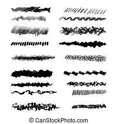 grunge, communie, ontwerp, brush-blot