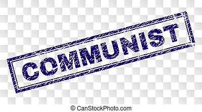 Grunge COMMUNIST Rectangle Stamp - COMMUNIST stamp seal...
