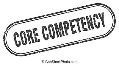 grunge, competency, kern, etiket, stamp., afgerond, teken., ...