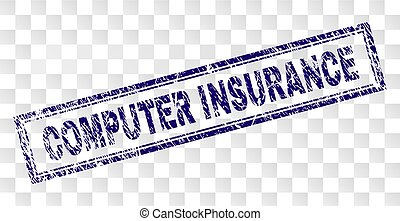 Grunge COMPUTER INSURANCE Rectangle Stamp