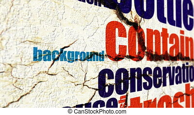 grunge, concept, écologie