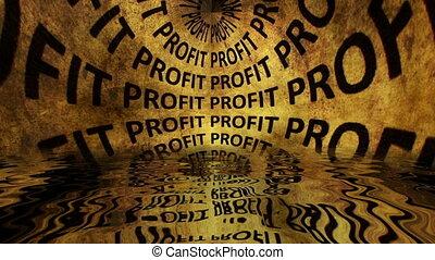 grunge, concept, profit, eau chute