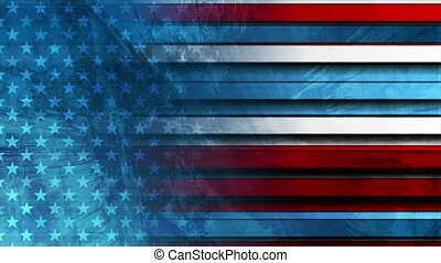 Grunge concept USA flag abstract corporate motion background...