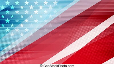 Grunge concept USA flag abstract motion background - USA ...