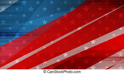 Grunge concept USA flag abstract video animation - USA ...