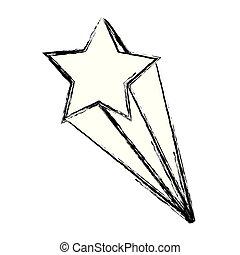 grunge, conception, art, étoile filante, gentil