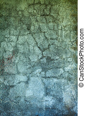 Grunge concrete wall with old paint