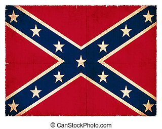 Historic Confederate flag created in grunge style