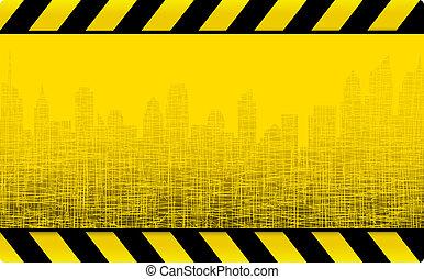 grunge construction background - yellow grunge construction...