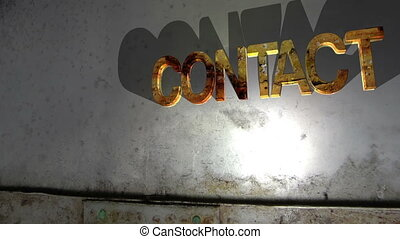 Grunge contact text falling concept