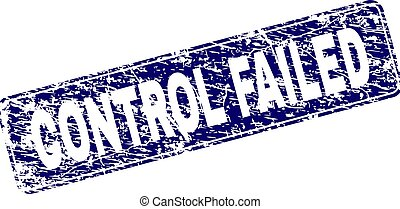 Grunge CONTROL FAILED Framed Rounded Rectangle Stamp -...