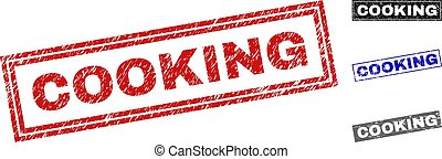 Grunge COOKING Scratched Rectangle Watermarks