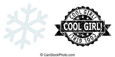 Grunge Cool Girl! Ribbon Seal and Mesh Carcass Snowflake - ...