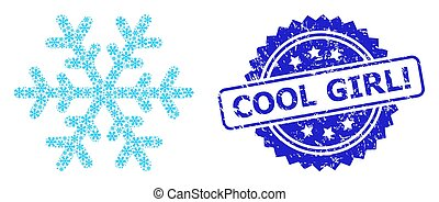 Grunge Cool Girl! Seal and Recursion Snowflake Icon ...
