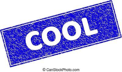 Grunge COOL Textured Rectangle Stamp Seal