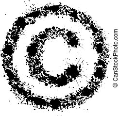 Grunge copyright sign - conceptual vector illustration