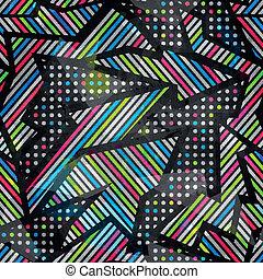 grunge, cor, padrão, efeito, espectro, seamless