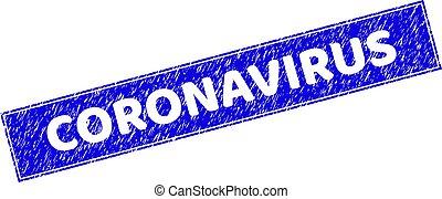 Grunge CORONAVIRUS Textured Rectangle Watermark