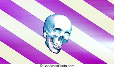 grunge, crâne, horreur, trois, pop, version, boucle