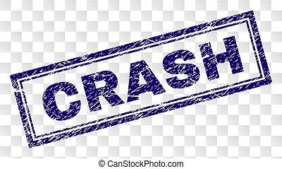 Grunge CRASH Rectangle Stamp