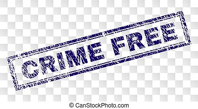 Grunge CRIME FREE Rectangle Stamp