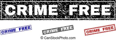 Grunge CRIME FREE Scratched Rectangle Watermarks