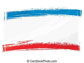 Republic Crimea national flag created in grunge style