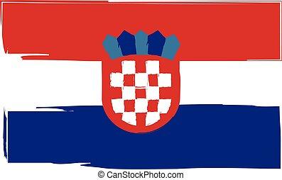 Grunge Croatia flag or banner