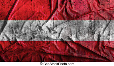 Grunge crumpled Austria flag. 3d rendering