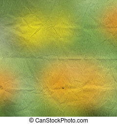 Grunge crushed green background. Vintage paper