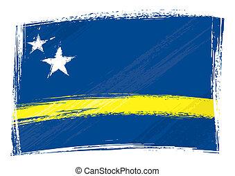 Grunge Curacao flag - Curacao national flag created in ...
