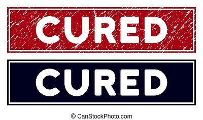 Grunge Cured Rectangular Stamp
