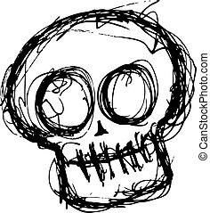 grunge cute skull