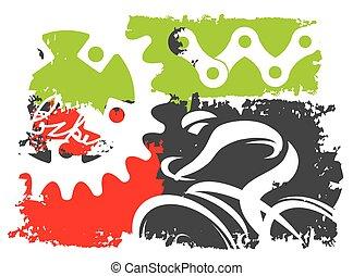Grunge cycling background