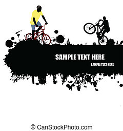 Grunge cycling poster