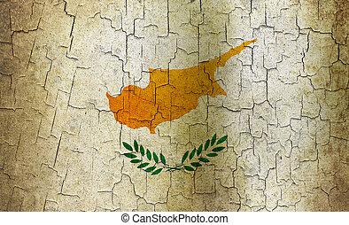 Grunge Cyprus flag