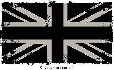 grunge, czarnoskóry, brytyjski, tło
